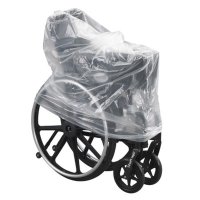 Mason Medical Plastic Wheelchair Storage Transport Cover Bag, Clear, 1 ea