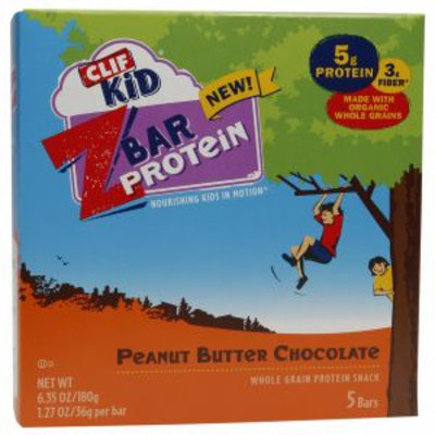 Clif Kid Z Bar Protein, Peanut Butter Chocolate, 5 ea