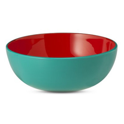 Oh Joy! Melamine Small Bowl - Turquoise/Red