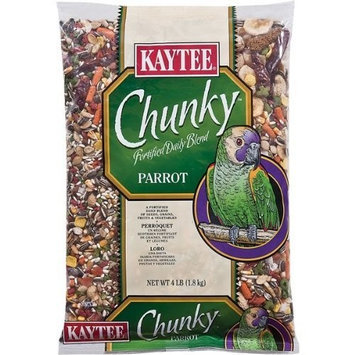 Kaytee Supreme Chunky Parrot Daily Diet Food, 4-Pound