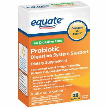 Equate 4X Digestive Care Probiotic Capsules