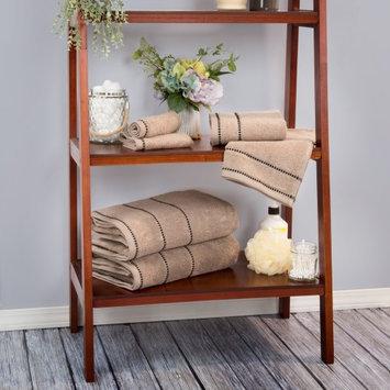 Lavish Home Zero Twist 100% Cotton 6 Piece Towel Set Color: Taupe