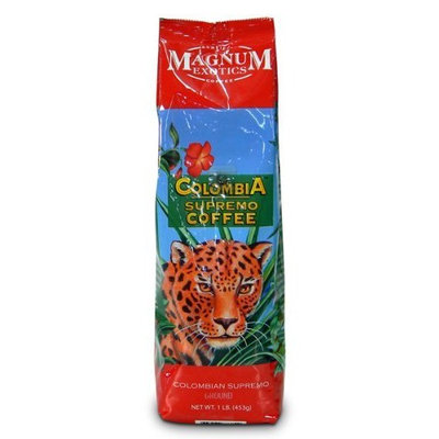 Magnum Exotics Magnum Colombia Supremo Coffee, Whole Bean, 1 Lb Bag