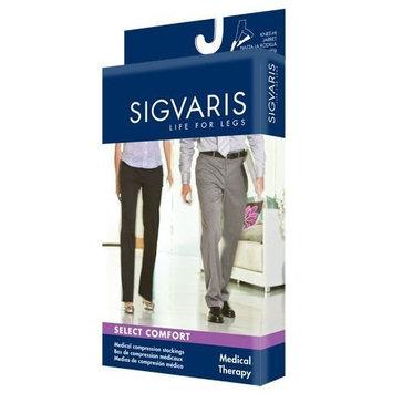 Sigvaris Select Comfort Knee High 20-30mmHg Unisex Open Toe, X2, Black