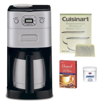 Refurbished Cuisinart DGB-650BC Refurbished Grind-and-Brew Thermal 10-Cup Coffeemaker Bundle