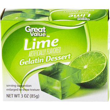Great Value: Lime Gelatin Dessert, 3 Oz