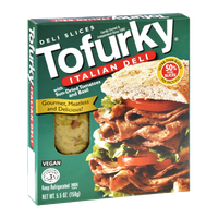 Turtle Island Foods Tofurky Italian with Sun-Dried Tomatoes and Basil Ultra-Thin Deli Slices