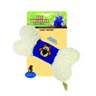 Romp! Dog Whisperer with Cesar Millan Cozy Bone, Soft and Cuddly Plush Dog Toy (Colors Vary)