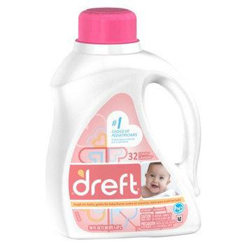 Dreft High Efficiency Liquid Laundry Detergent 50 oz