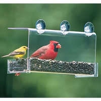 Duncraft 74201 Cardinal Classic Window Bird Feeder, 1 Quart