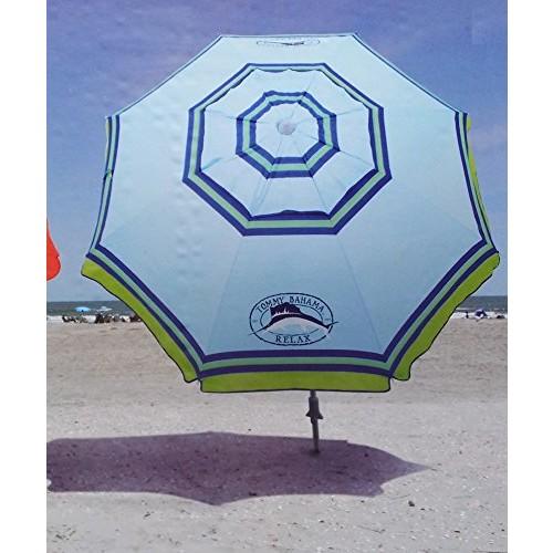 Tommy Bahama 7 Foot Beach Umbrella 2013 w/Tilt, Wind Vent, Sand Anchor, SPF/UPF100 - color choice []