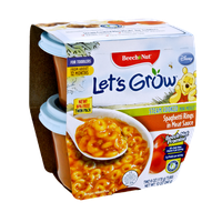 Beech Nut Let's Grow Spaghetti Rings in Meat Sauce Steam Cooked Mini Meals for Toddlers - 2CT