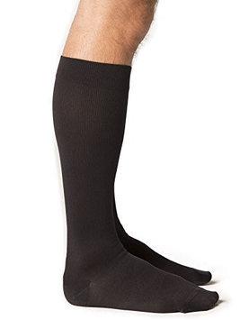 Sigvaris Midtown Microfiber 821CLLM99 15-20 mmHg Closed Toe Mens Calf Large Long - Black