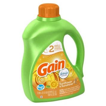 Gain Febreze Sunflower & Sunshine Scent Liquid Laundry Detergent -