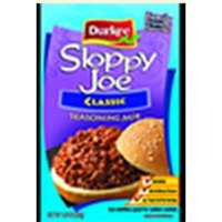Durkee Sloppy Joe Seasoning Mix - w/ Zesty Worcestershire & Sweet Onions (Classic All American Receipt), Buy EIGHTEEN and SAVE on Cost per Packet, Each Packet is 1.5 Oz (Pack of 18)
