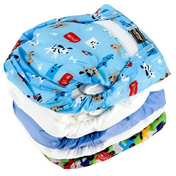 Kushies 5 Pack Reusable Ultra-lite Diapers for Toddlers, Boy