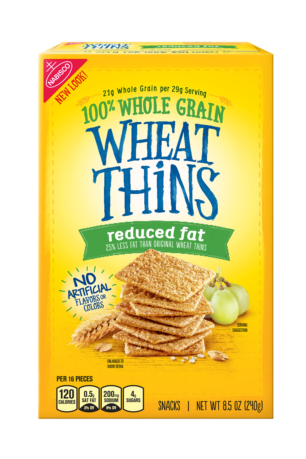 Nabisco Wheat Thins Reduced Fat 100% Whole Grain Crackers