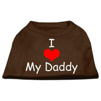 Ahi I Love My Daddy Screen Print Shirts Brown Med (12)
