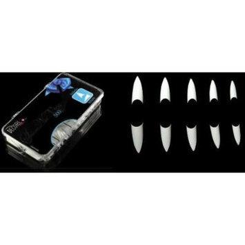 Decori Adoro Acrylic False Artificial Tips Nail Art WHITE - Stiletto 500 pcs