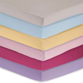 Triboro Quilt Co. Carter's Solid Sateen Fitted Crib Sheet - Magenta
