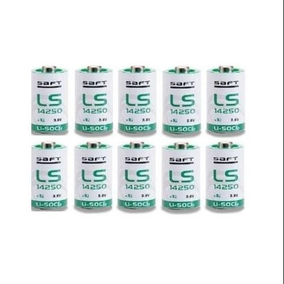 Saft LS-14250 1/2 AA 3.6V Lithium (non Rechargeable batteries 10 pack)