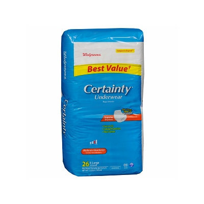 Walgreens Certainty Unisex X Large Underwear Moderate Absorbency