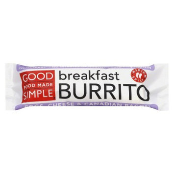 Good Food Made Simple Eggs, Cheese & Canadian Bacon Breakfast Burrito