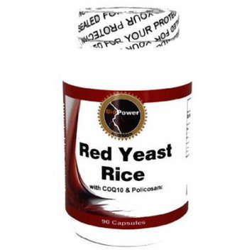 Red Yeast Rice 540mg # with Coq10 50mg and Policosanol 10mg - Lower Your Cholesterol Naturally - BioPower Nutrition
