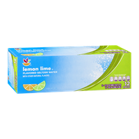 Ahold Lemon Lime Flavored Seltzer Water - 12 CT
