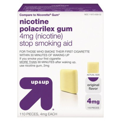 up & up up&up Nicotine Gum 4mg Original - 110 Count