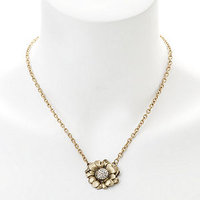 Elizabeth Cole Jewelry Crystal Flower Necklace