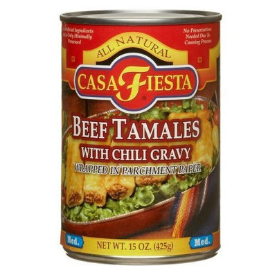 Casa Fiesta Beef Tamales, 15-Ounce Cans (Pack of 12)