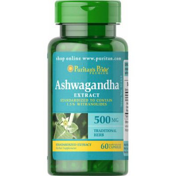 Puritan's Pride Ashwagandha Standardized Extract 500 mg-60 Capsules