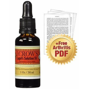 J.CROW'S® Lugol's Solution of Iodine 5% + Dr. Jarvis' Special Report: Understanding Arthritis as an Energy Disease