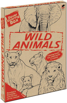 Dover 492154 Dover Coloring Box Kit-Wild Animals