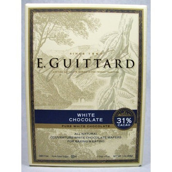 E Guittard 31% White Choco Couverture Wafer, 1 Pound, (Pack of 2)