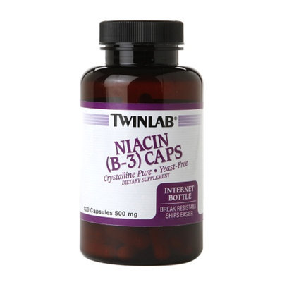 Twinlab Niacin (Vitamin B-3) Caps 500mg, 120 ea