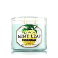 Bath & Body Works Fresh Picked LEMON MINT LEAF 3 Wick Scented Candle 14.5 oz./411 g