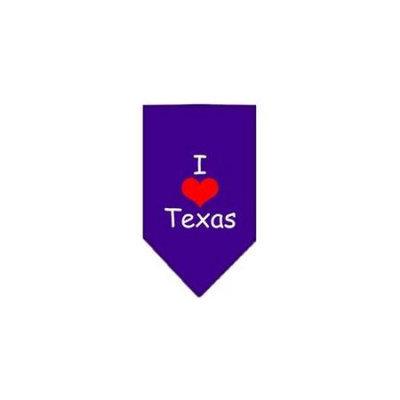 Ahi I Heart Texas Screen Print Bandana Purple Large