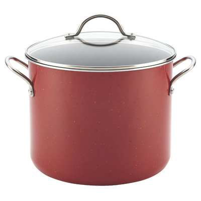 Meyer Corporation Us-farberware Division 12-Quart Covered Stockpot, Red
