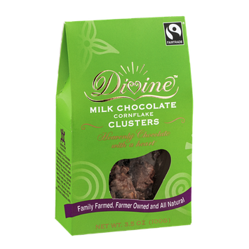 Divine Milk Chocolate Cornflake Clusters