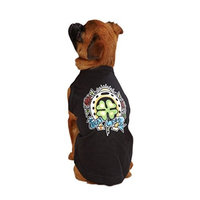 East Side Collection 10-Inch Cotton/Polyester Tattoo Dog Tees, X-Small, Clover