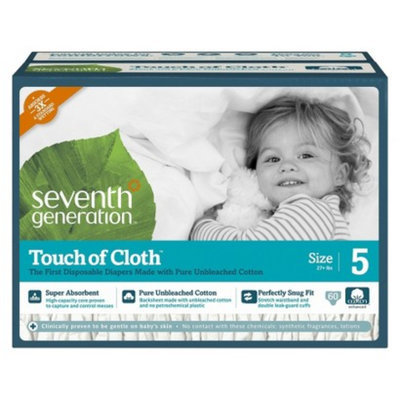 Seventh Generation Touch of Cloth™ Size 5 Baby Diapers