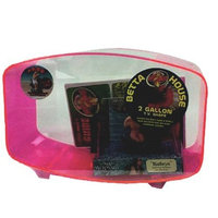 Zoo Med betta House 2 Gallon Television Style Neon Pink