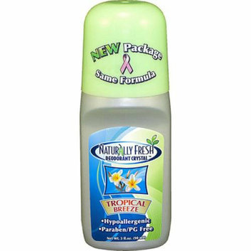 Naturally Fresh Roll On Deodorant Crystal Tropical Breeze 3 oz