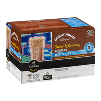 Green Mountain Coffee Donut House Collection Sweet & Creamy Regular Iced Coffee K-Cup Packs - 12 CT