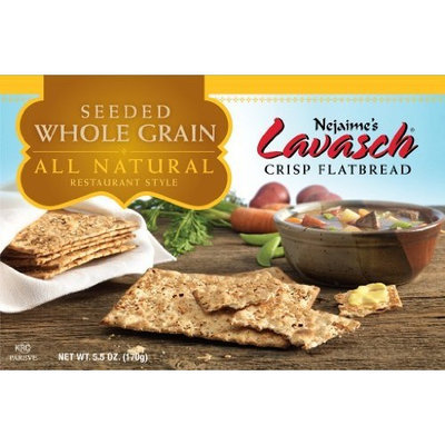 Nejaimes Lavasch Whole Wheat Sesame, 5.5-Ounce Boxes (Pack of 12)