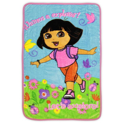 Nickelodeon Dora the Explorer Toddler Girl's Fleece Blanket - STEVENS BABY BOOM LTD.