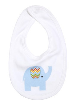 Greatlookz Fashion Greatlookz Drooling Baby Printed Cotton Bib with Snap, Elephant