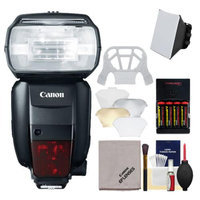 Canon Speedlite 600EX-RT Flash with Soft Box + Diffuser + Batteries & Charger + Kit for EOS EOS 6D, 70D, 5D Mark II III, Rebel T3, T3i, T4i, T5, T5i, SL1 Cameras